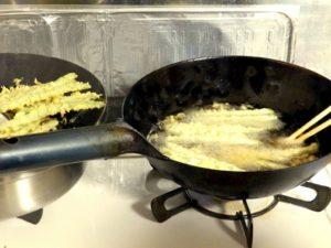 家庭用コンロの温度ではちょっと中華鍋は厳しい